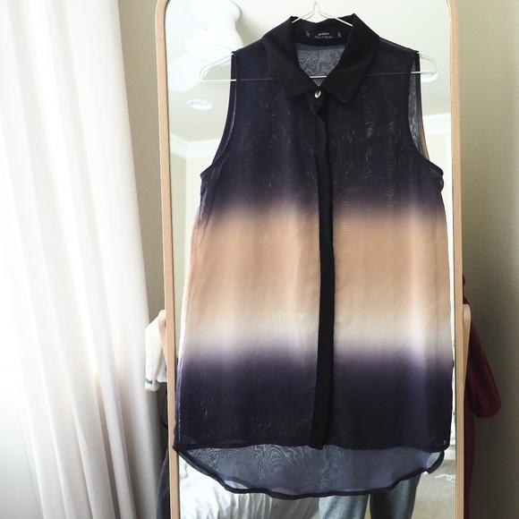 Miss Selfridge Tops - Miss Selfridge Ombre Sleeveless Shirt